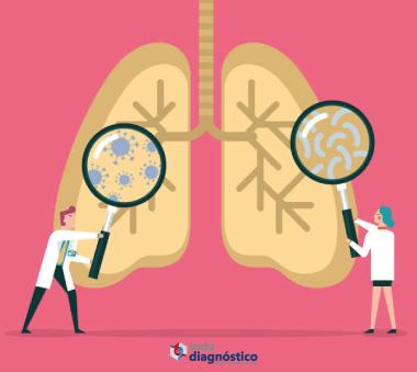 Temporada de enfermedades respiratorias: ilustración de virus en pulmones