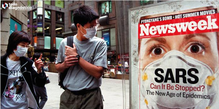 Personas en Hong Kong: epidemia de SARS en 2003