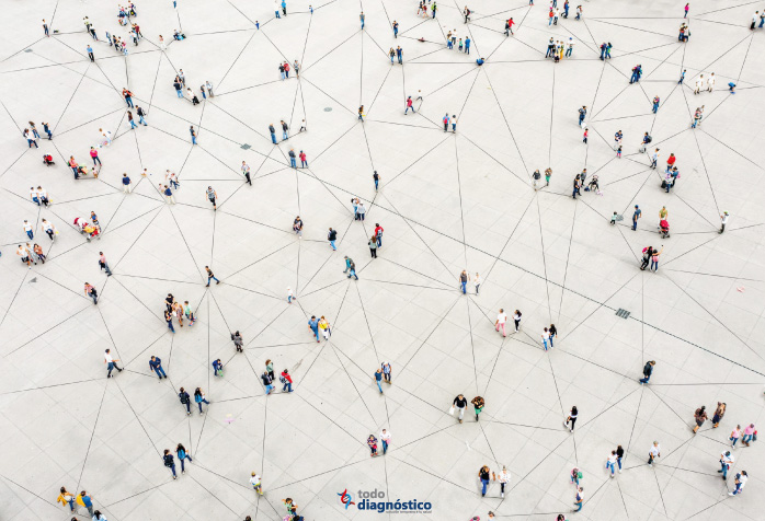 Conexión entre gente infectada en una epidemia